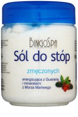 BingoSpa Guarana & Dead Sea Minerals сіль для ванни для втомлених ніг