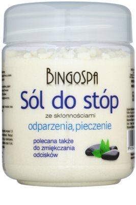 BingoSpa Mint сіль для ванни для ніг зі схильністю до набряків