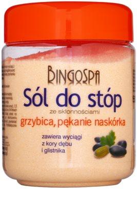 BingoSpa Oak Bark fürdősó a gombásodás és bőrrepedezés ellen lábra