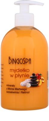 BingoSpa Peach sabonete líquido para rosto e corpo