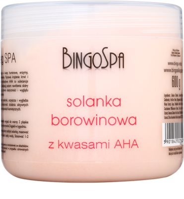 BingoSpa Peat м'яка сіль для ванни з A.H.A. (Alpha Hydroxy Acids)