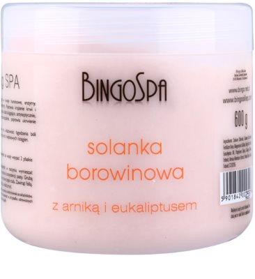 BingoSpa Peat делікатна сіль для ванни з арнікою та евкаліптом