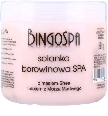 BingoSpa Peat jemná soľ do kúpeľa s bambuckým maslom a bahnom z Mŕtveho mora