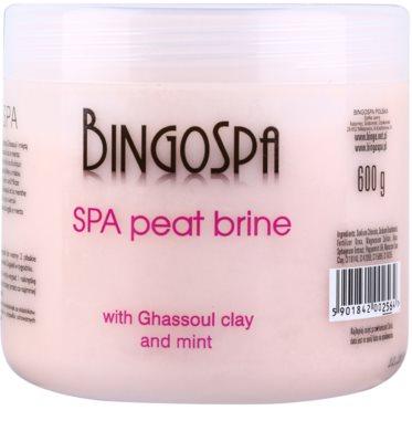 BingoSpa Peat sales de baño de cristal fino con arcilla marroquí y menta
