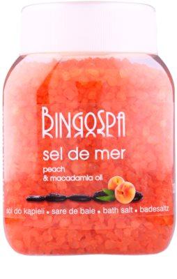 BingoSpa Peach & Macadamia Oil mořská sůl do koupele