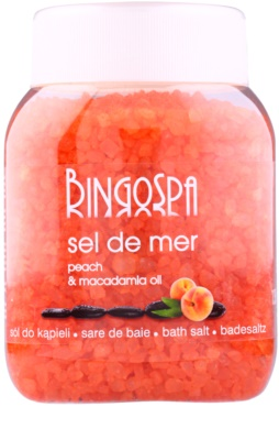 BingoSpa Peach & Macadamia Oil морска сол за вана
