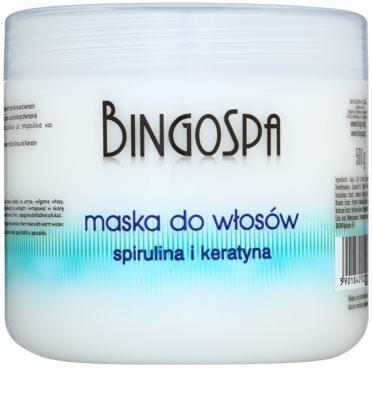 BingoSpa Spirulina & Keratin mascarilla para cabello fino y quebradizo