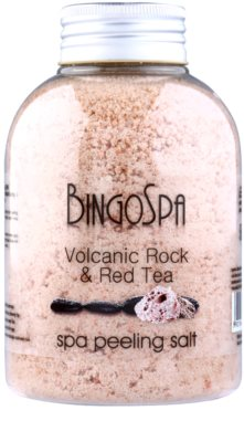 BingoSpa Volcanic Rock & Red Tea Peeling-Salz für den Körper
