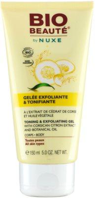 Bio Beauté by Nuxe Body gel exfoliante e tonificante com extrato de limão da Córcega e óleo botânico