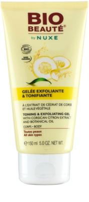 Bio Beauté by Nuxe Body tonizující a exfoliační gel  s extrakty korsického citronu a botanickým olejem