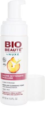 Bio Beauté by Nuxe Cleansing espuma limpiadora micelar  con agua de naranja 1