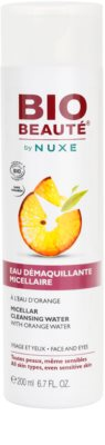 Bio Beauté by Nuxe Cleansing agua micelar limpiadora con agua de naranja