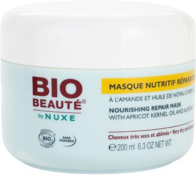 Bio Beauté by Nuxe Hair mascarilla nutritiva para cabello con aceite de hueso de albaricoque y almendras