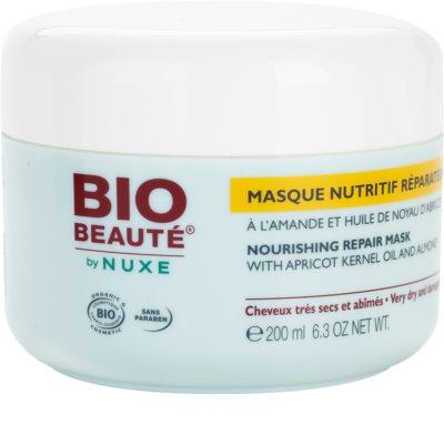 Bio Beauté by Nuxe Hair odżywcza maska do włosów z olejkiem z pestek moreli i migdałami