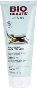 Bio Beauté by Nuxe Hair šampon za pogosto umivanje s cvetlično vodo iz sporiša in kokosovim derivatom