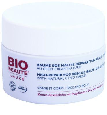 Bio Beauté by Nuxe High Nutrition SOS відновлюючий бальзам для чутливої шкіри з вмістом cold cream
