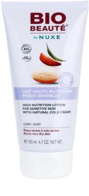 Bio Beauté by Nuxe High Nutrition поживне молочко для тіла з вмістом cold cream