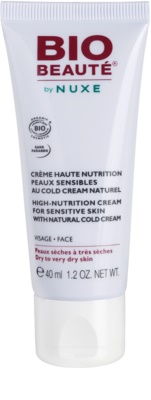 Bio Beauté by Nuxe High Nutrition поживний крем з вмістом cold cream