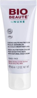 Bio Beauté by Nuxe High Nutrition подхранващ крем съдържа cold cream