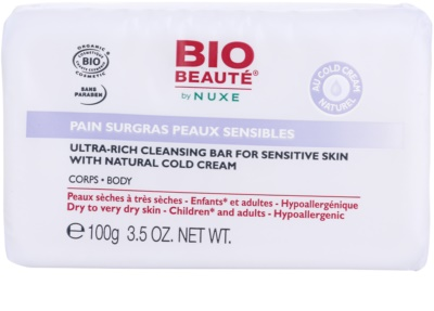 Bio Beauté by Nuxe High Nutrition подхранващ сапун съдържа cold cream