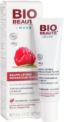 Bio Beauté by Nuxe Lips регенериращ балсам за устни с парченца от малина 1