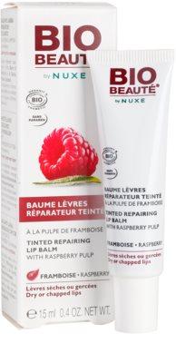 Bio Beauté by Nuxe Lips bálsamo labial reparador con pulpa de frambuesas 1
