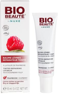 Bio Beauté by Nuxe Lips регенериращ балсам за устни с парченца от малина 2