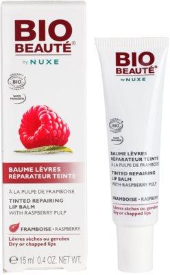 Bio Beauté by Nuxe Lips bálsamo labial reparador con pulpa de frambuesas 2