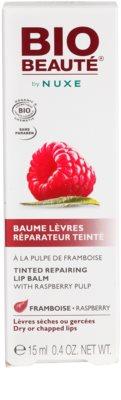 Bio Beauté by Nuxe Lips регенериращ балсам за устни с парченца от малина 3