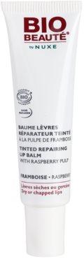 Bio Beauté by Nuxe Lips регенериращ балсам за устни с парченца от малина