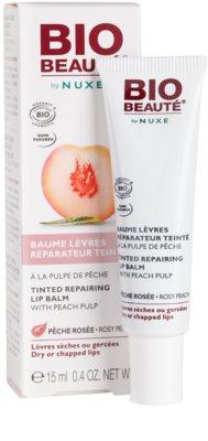 Bio Beauté by Nuxe Lips regeneráló szájbalzsam barack rosttal 1