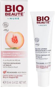 Bio Beauté by Nuxe Lips regeneráló szájbalzsam barack rosttal 2