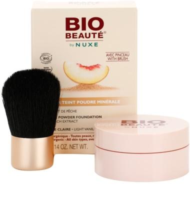 Bio Beauté by Nuxe Mineral maquillaje mineral en polvo con extracto de melocotón 1