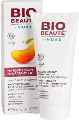 Bio Beauté by Nuxe Moisturizers hydratačná vyhladzujúca maska s dužinou z klementíniek 1