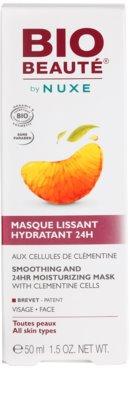Bio Beauté by Nuxe Moisturizers hydratačná vyhladzujúca maska s dužinou z klementíniek 3