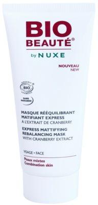 Bio Beauté by Nuxe Rebalancing mascarilla matificante con extracto de arándano rojo para cerrar los poros