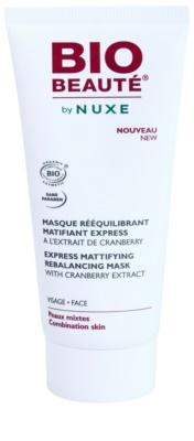 Bio Beauté by Nuxe Rebalancing mattierende Maske mit Preiselbeeren-Extrakt zum verkleinern der Poren