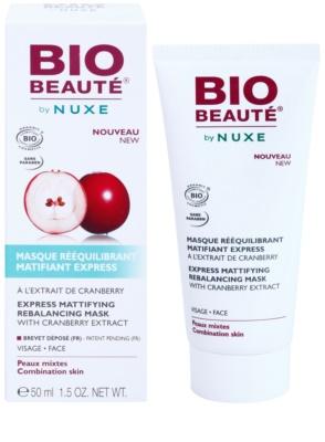 Bio Beauté by Nuxe Rebalancing mattierende Maske mit Preiselbeeren-Extrakt zum verkleinern der Poren 1