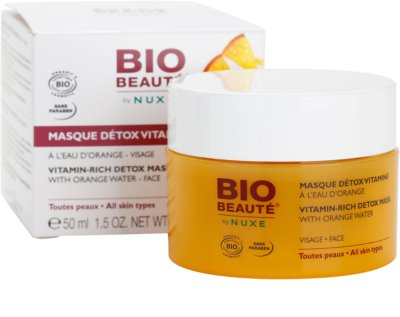 Bio Beauté by Nuxe Masks and Scrubs mascarilla desintoxicante vitaminada con agua de naranja 3