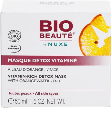 Bio Beauté by Nuxe Masks and Scrubs mascarilla desintoxicante vitaminada con agua de naranja 4