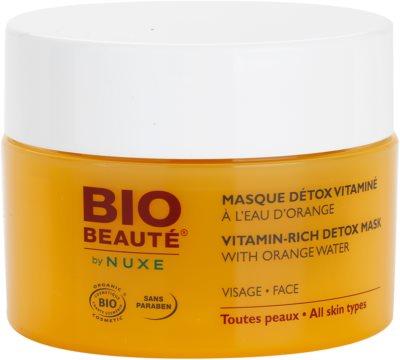Bio Beauté by Nuxe Masks and Scrubs máscara detoxicante com vitaminas com água de laranja