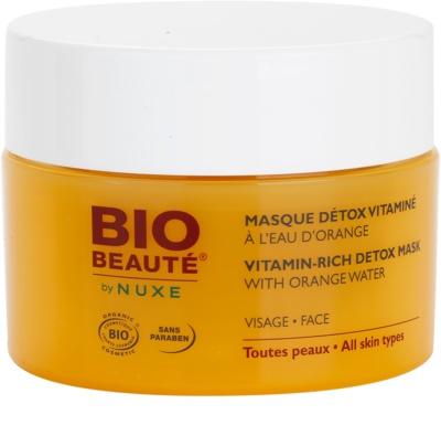 Bio Beauté by Nuxe Masks and Scrubs vitamínová detoxikační maska s pomerančovou vodou