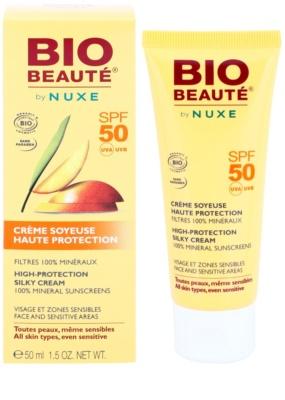 Bio Beauté by Nuxe Sun Care mineralisierende schützende Creme für das Gesicht und empfindliche Partien SPF 50 1