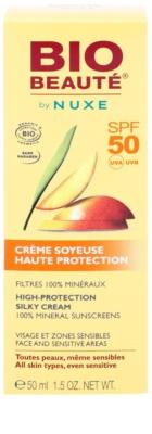 Bio Beauté by Nuxe Sun Care мінеральний захисний крем для обличчя та чутливих ділянок тіла SPF 50 2