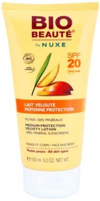 Bio Beauté by Nuxe Sun Care минерално защитно мляко за лице и тяло SPF 20