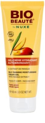 Bio Beauté by Nuxe Sun Care bronzare hidratanta crema-gel cu extract de mango