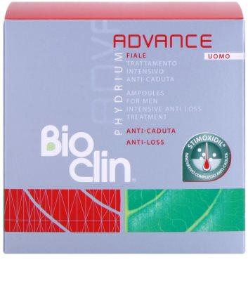 Bioclin Phydrium Advance fiole impotriva caderii parului pentru barbati 2