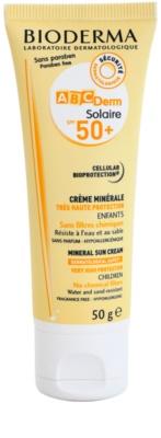 Bioderma ABC Derm Solaire creme solar mineral SPF 50+