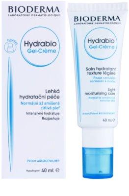 Bioderma Hydrabio Gel-Créme crema gel hidratanta cu textura usoara pentru piele sensibila normala-combinata 1