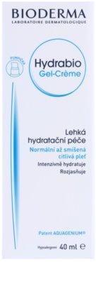 Bioderma Hydrabio Gel-Créme crema-gel hidratante textura ligera  para pieles sensible (normales y mixtas) 2
